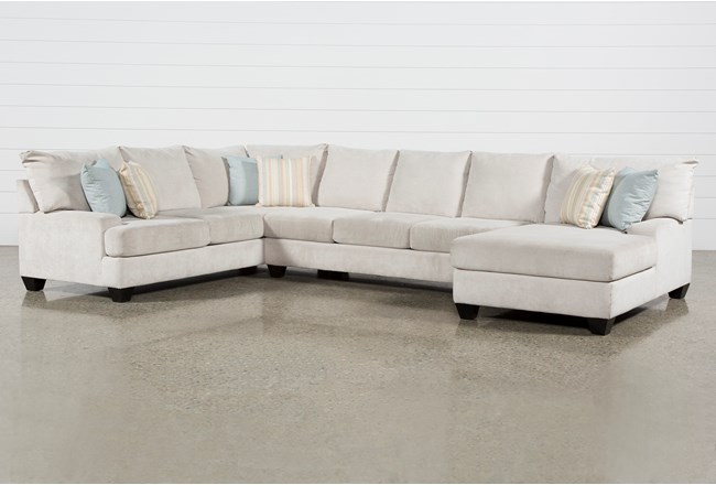 "Harper Foam II 3 Piece 157"" Sectional With Right Arm Facing Chaise - 360"