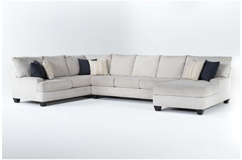 """Harper Foam II 3 Piece 157"""" Sectional With Right Arm Facing Chaise"""