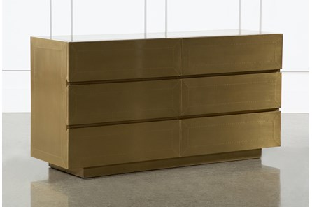 Aged Brass 6 Drawer Dresser By Nate Berkus And Jeremiah Brent