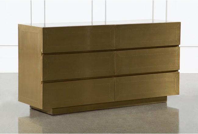 Aged Brass 6 Drawer Dresser By Nate Berkus And Jeremiah Brent  - 360