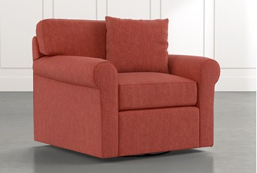Elm II Red Swivel Arm Chair