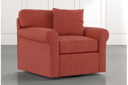 Elm II Red Swivel Arm Chair