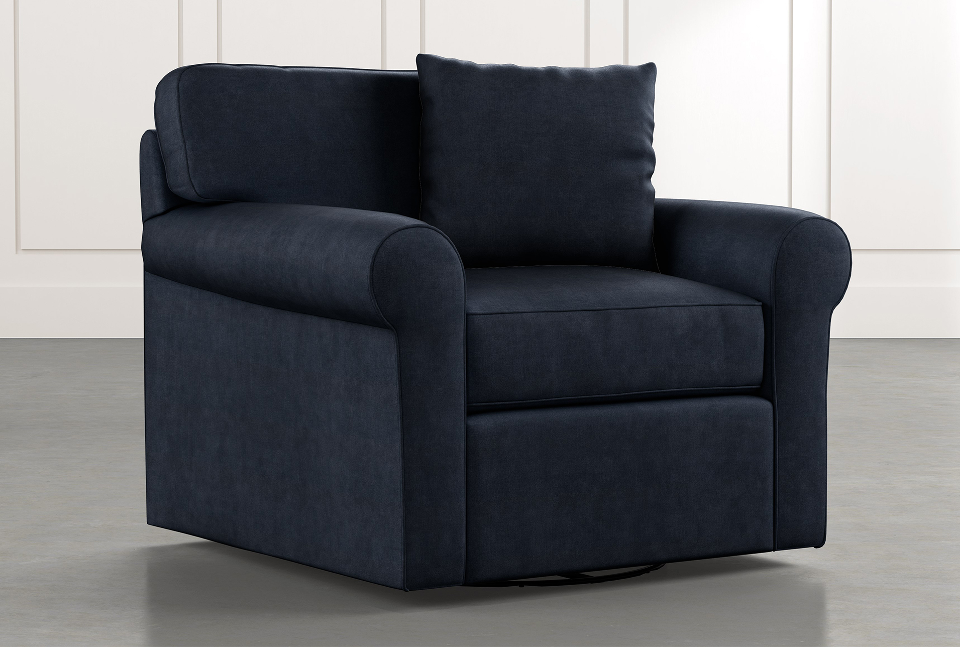 Charmant Elm II Navy Blue Swivel Arm Chair (Qty: 1) Has Been Successfully Added To  Your Cart.
