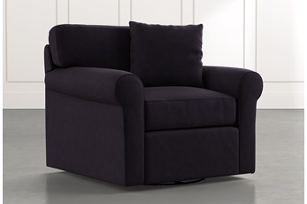 Elm II Black Swivel Arm Chair
