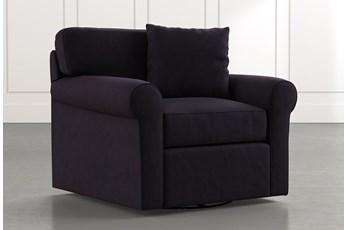 Elm II Black Swivel Arm Chair
