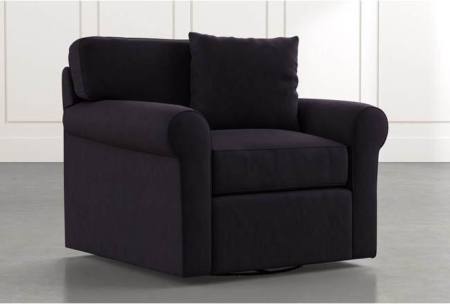 Elm II Black Swivel Arm Chair - 360