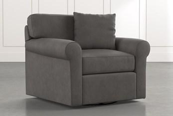Elm II Dark Grey Swivel Arm Chair