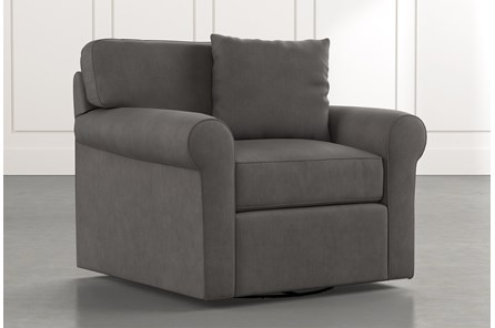 Elm II Dark Grey Swivel Arm Chair