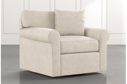 Elm II Beige Swivel Arm Chair