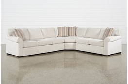 "Elm II Foam 3 Piece 127"" Sectional With Left Arm Facing Sofa"