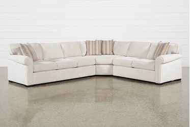 "Elm II Foam 3 Piece 127"" Sectional With Left Arm Facing Sofa"