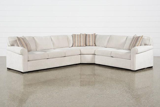 "Elm II Foam 3 Piece 127"" Sectional With Left Arm Facing Sofa - 360"