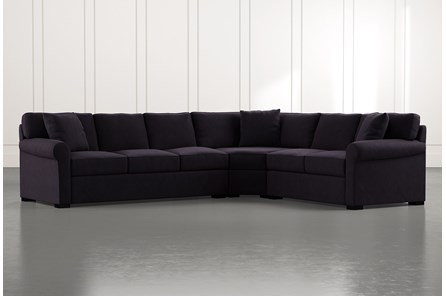Elm II Black 3 Piece Sectional