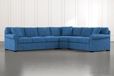 Elm II Blue 3 Piece Sectional