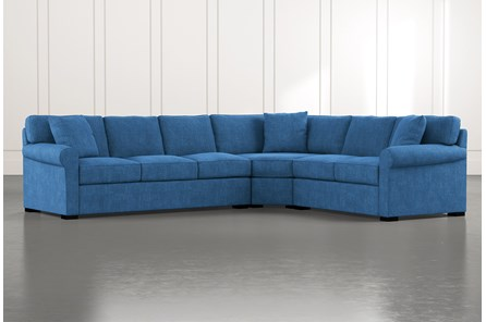 Elm II Blue 3 Piece Sectional