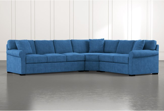 Elm II Blue 3 Piece Sectional - 360