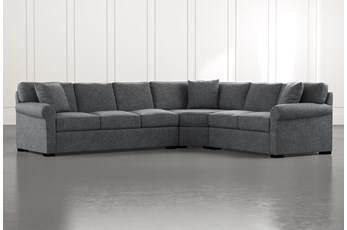 Elm II Dark Grey 3 Piece Sectional