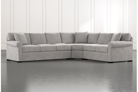 Elm II Light Grey 3 Piece Sectional