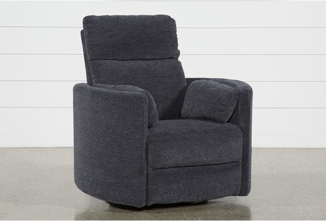 Rayna Ink Swivel Glider Power Recliner - 360