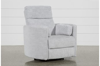 Rayna Dove Swivel Glider Power Recliner