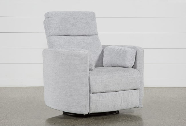 Rayna Dove Swivel Glider Power Recliner - 360