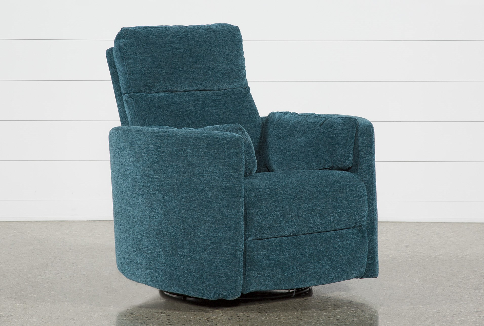 Rayna Peacock Swivel Glider Power Recliner Living Spaces