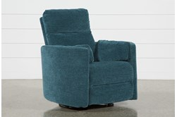 Rayna Peacock Swivel Glider Power Recliner