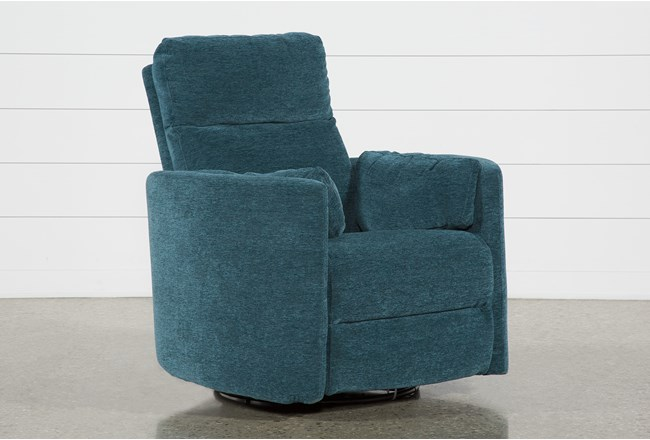 Rayna Peacock Swivel Glider Power Recliner - 360