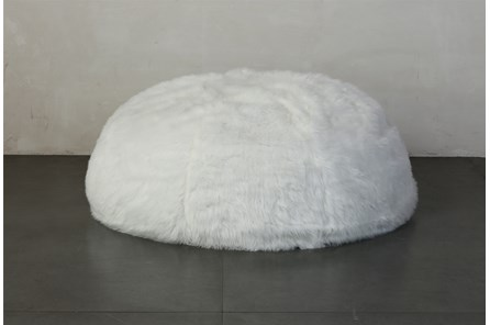 Xl Bean Bag Faux Fur White