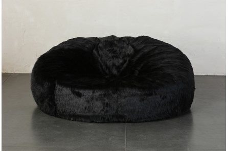 Xl Bean Bag Faux Fur Black