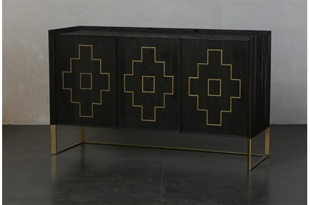 Lattice Inlay 3 Door Sideboard