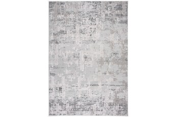 63X90 Rug-Distressed Concrete Grey