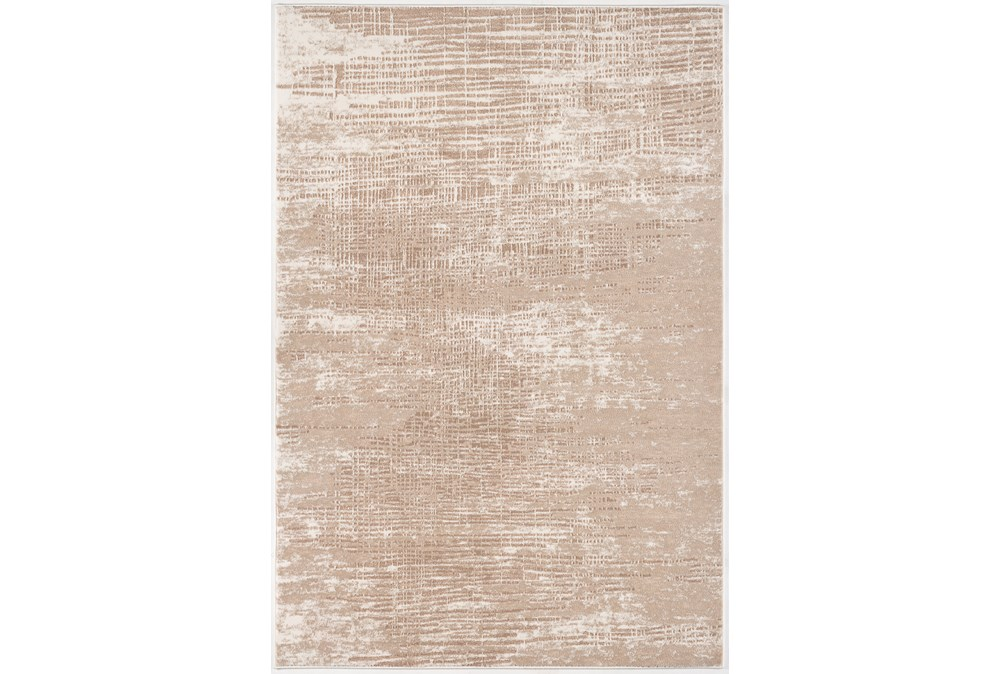 85X126 Rug-Aged Crosshatch Taupe