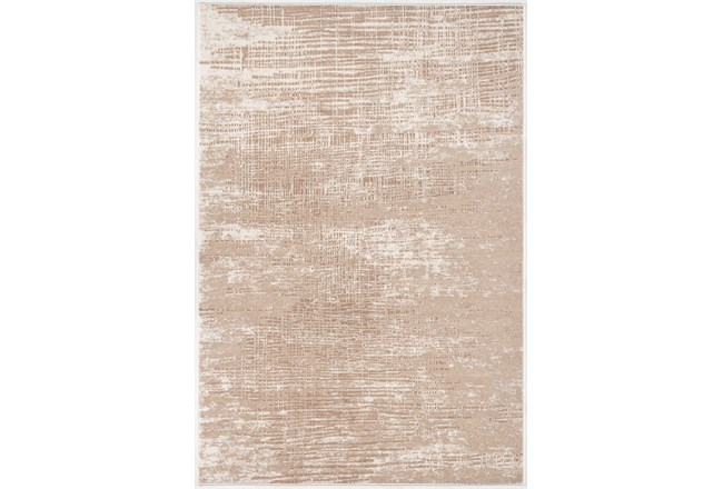 85X126 Rug-Aged Crosshatch Taupe - 360