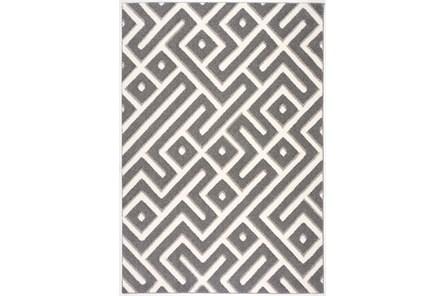 63X90 Rug-Geo Maze Grey