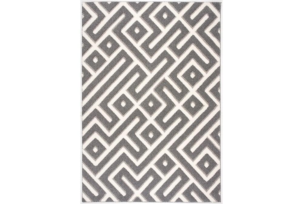 85X126 Rug-Geo Maze Grey