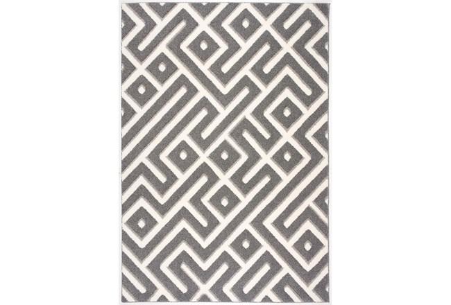 85X126 Rug-Geo Maze Grey - 360