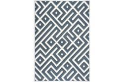 63X90 Rug-Geo Maze Denim