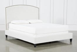 Olivia California King Upholstered Panel Bed