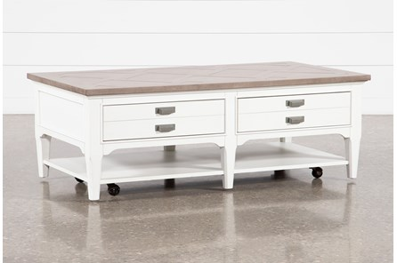 Bayshore Coffee Table With Casters