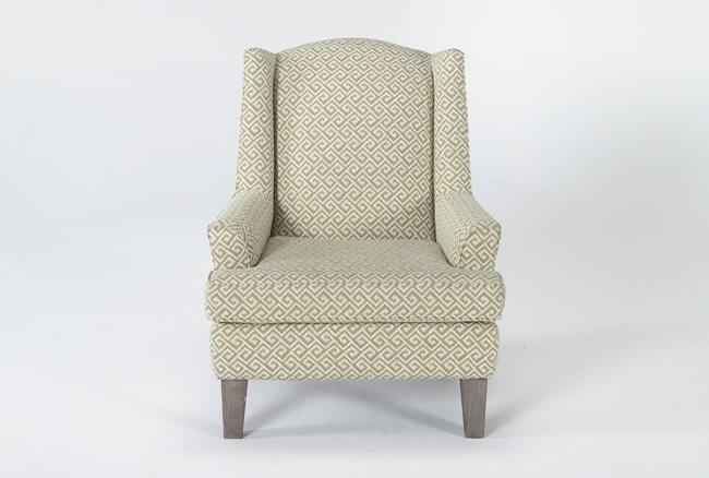 Bailey II Flare Arm Wing Club Chair With Greywash Finish - 360