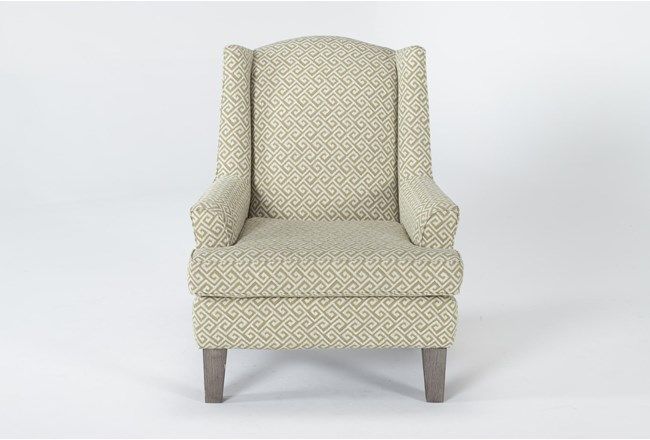 Bailey II Flare Arm Wing Club Chair With Greywash Finish - 360