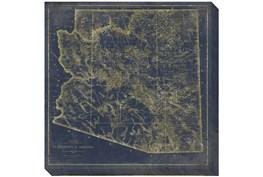 38X38 AZ Map Navy And Gold