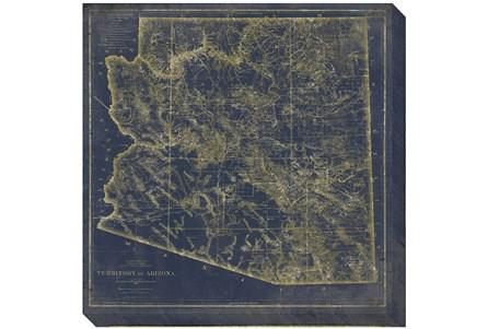 38X38 AZ Map Navy And Gold - Main