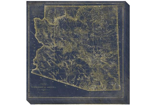 38X38 AZ Map Navy And Gold - 360