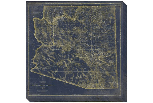 Picture-Az Map Navy and Gold - 360