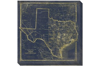 Picture-Tx Map Navy and Gold