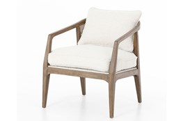 Knoll Natural Distressed Natural Accent Chair