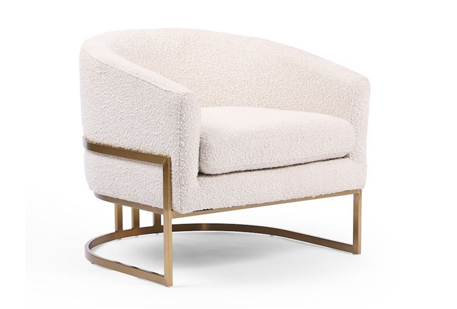 Knoll Natural Satin Brass Chair - 360