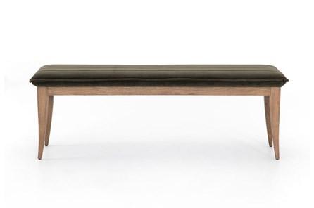 Modern Velvet Oak Bench